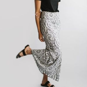 Beautiful Black & White Maxi Skirt!